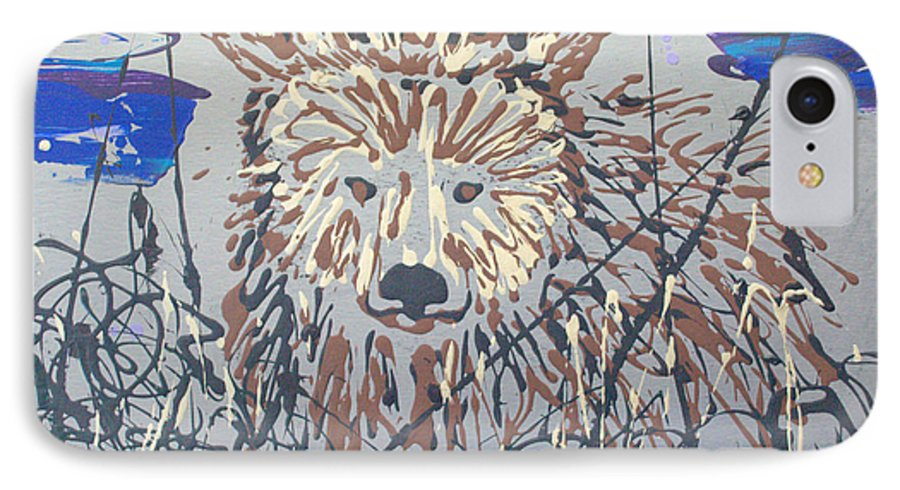 Bear In Bushes IPhone Case featuring the painting The Kodiak by J R Seymour