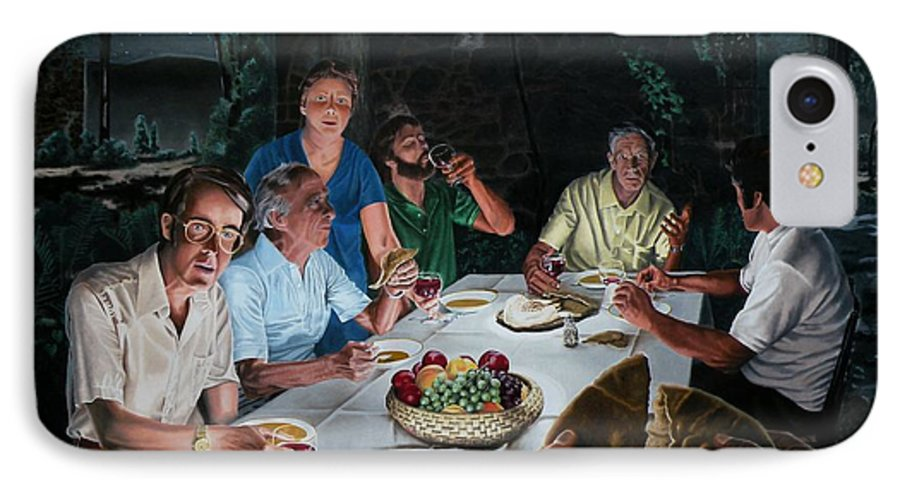 Last Supper IPhone 7 Case featuring the painting The Last Supper by Dave Martsolf