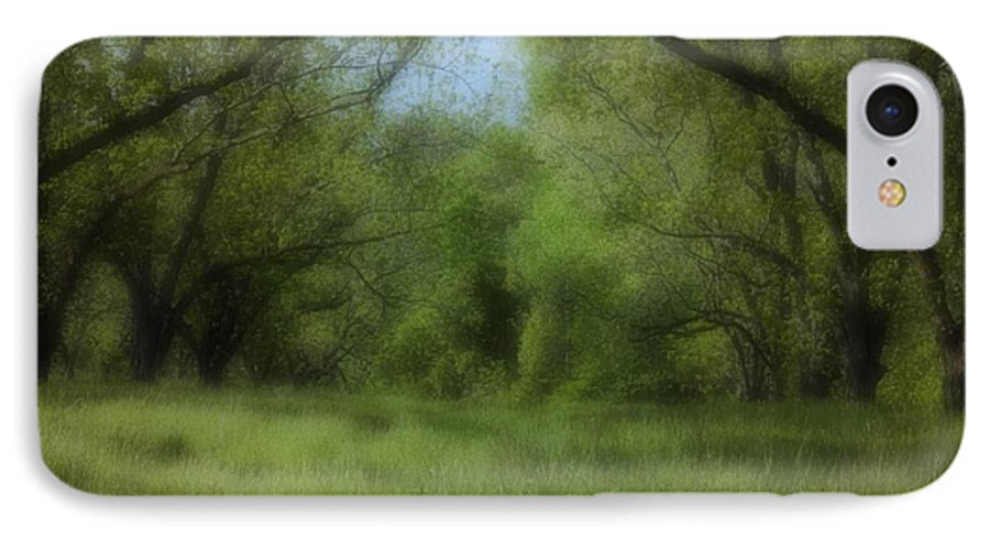 Landscape IPhone 7 Case featuring the photograph The Meadow by Ayesha Lakes