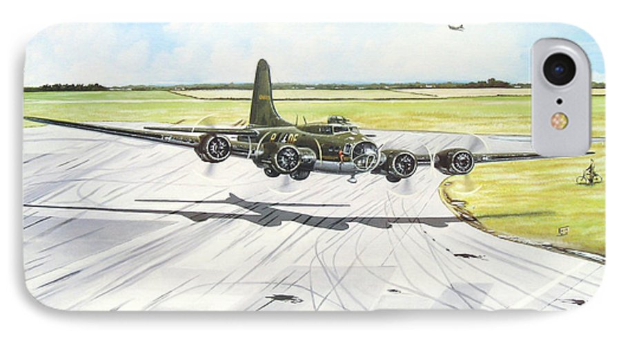 Military IPhone 7 Case featuring the painting The Memphis Belle by Marc Stewart
