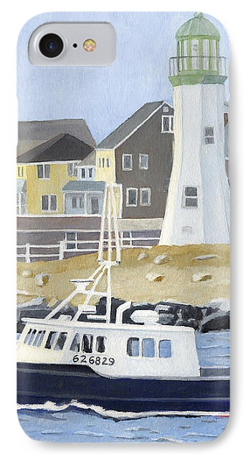 Fishingboat IPhone 7 Case featuring the painting The Michael Brandon by Dominic White