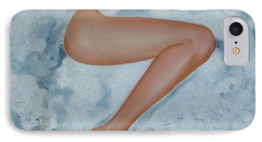 Art IPhone 7 Case featuring the painting The Milk Bath by Sergey Ignatenko