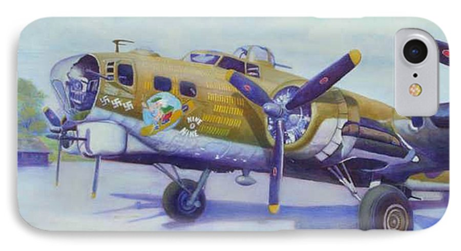 B-17 IPhone 7 Case featuring the painting The Nine O Nine by Scott Robertson