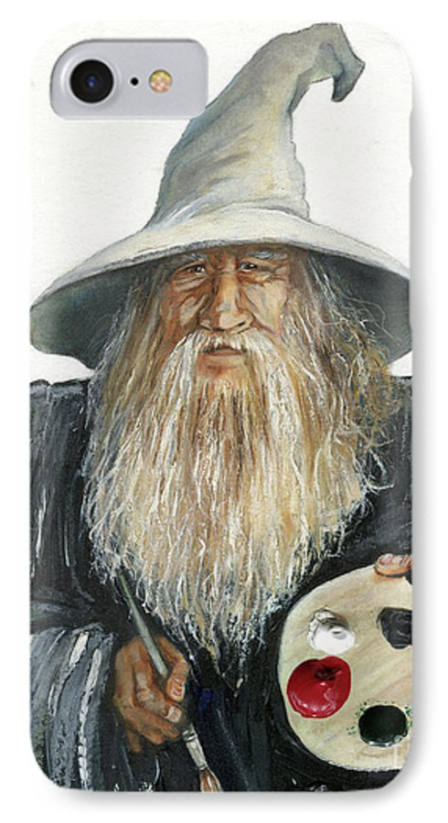 Wizard IPhone 7 Case featuring the painting The Painting Wizard by J W Baker