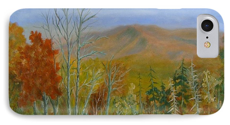 Mountains; Trees; Fall Colors IPhone 7 Case featuring the painting The Parkway View by Ben Kiger