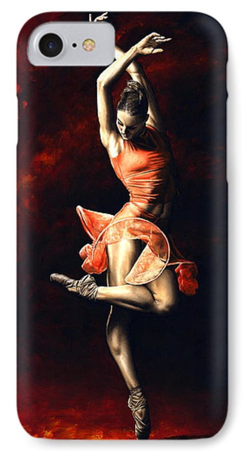 Dancer IPhone 7 Case featuring the painting The Passion Of Dance by Richard Young