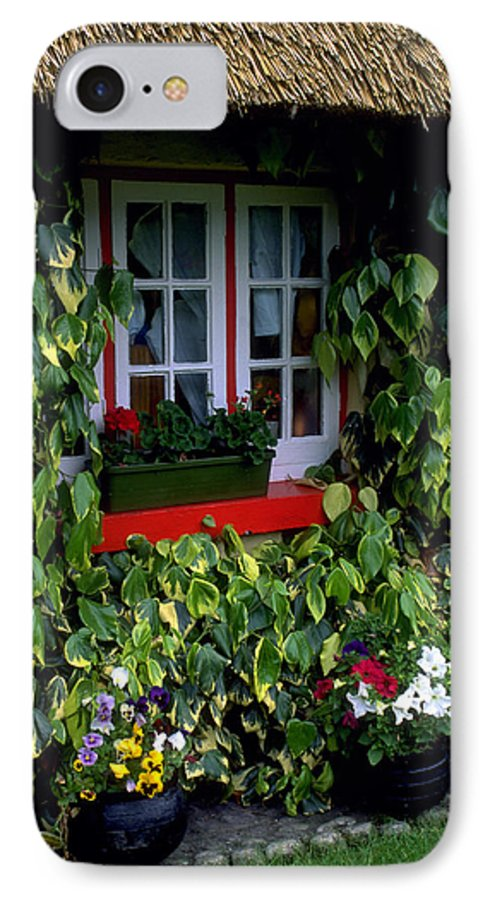 Ivy IPhone 7 Case featuring the photograph The Perfect Cottage by Carl Purcell