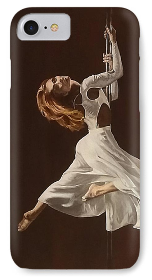 Painting IPhone 7 Case featuring the painting The Performance by Sheryl Gallant