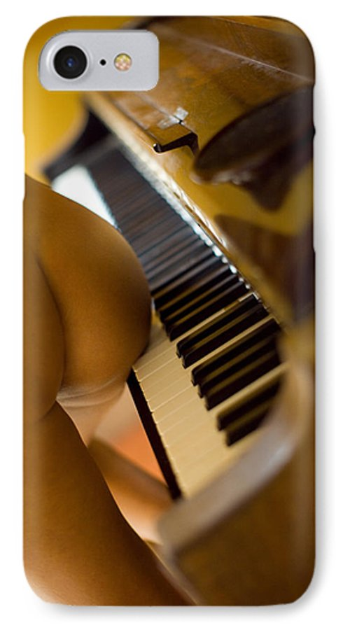 Sensual IPhone 7 Case featuring the photograph The Piano by Olivier De Rycke