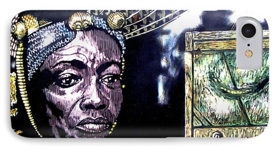 IPhone 7 Case featuring the mixed media The Promise Keeper by Chester Elmore