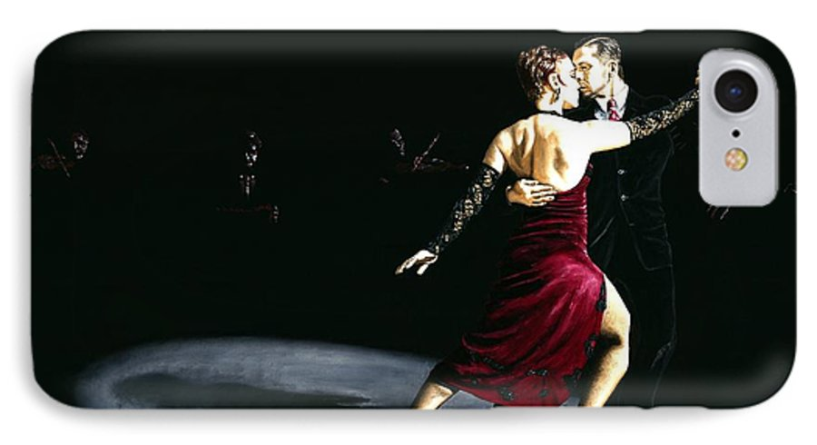 Tango IPhone 7 Case featuring the painting The Rhythm Of Tango by Richard Young