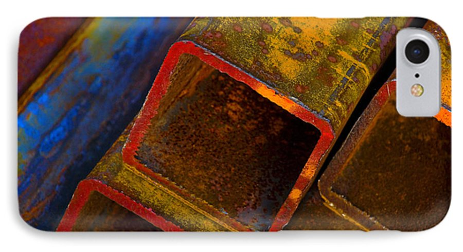 Abstract IPhone 7 Case featuring the photograph The River by Skip Hunt