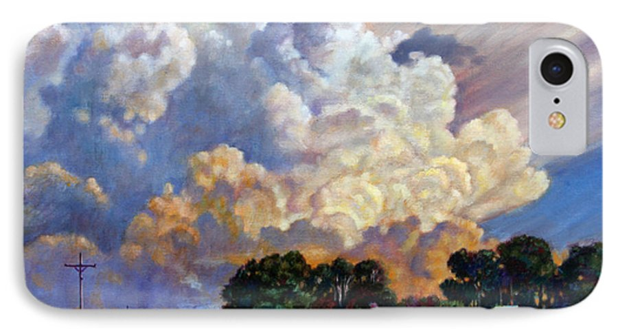 Landscape IPhone 7 Case featuring the painting The Road Home by John Lautermilch