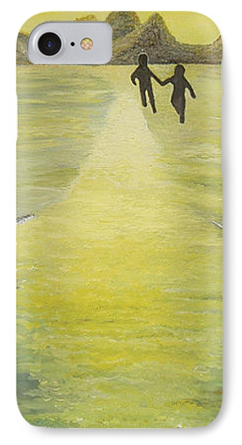 Soul IPhone 7 Case featuring the painting The Road In The Ocean Of Light by Karina Ishkhanova