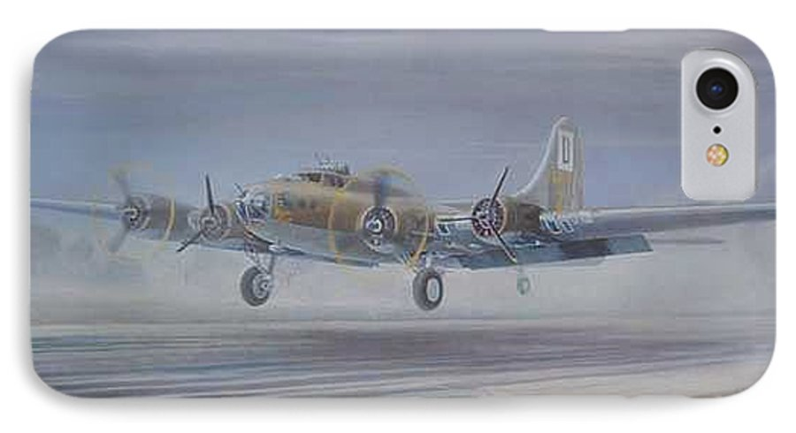 The Only Survivor Of The 100th Bomb Group On The October 10 IPhone 7 Case featuring the painting The Royal Flush Comes Home by Scott Robertson