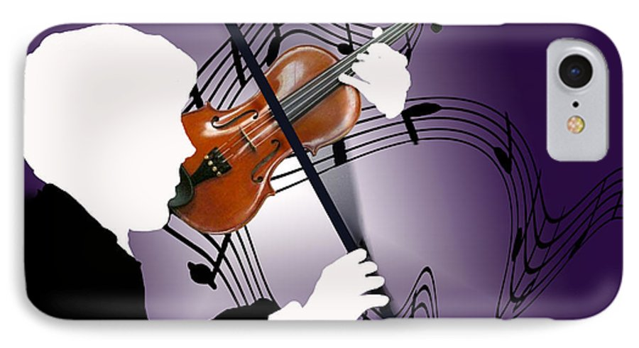 Violin IPhone 7 Case featuring the digital art The Soloist by Steve Karol