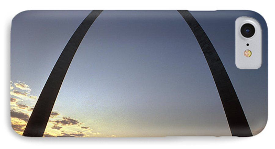 Landmark IPhone 7 Case featuring the photograph The St. Louis Arch by Carl Purcell