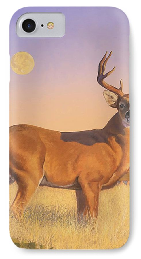 Deer IPhone 7 Case featuring the painting The Stag by Howard Dubois