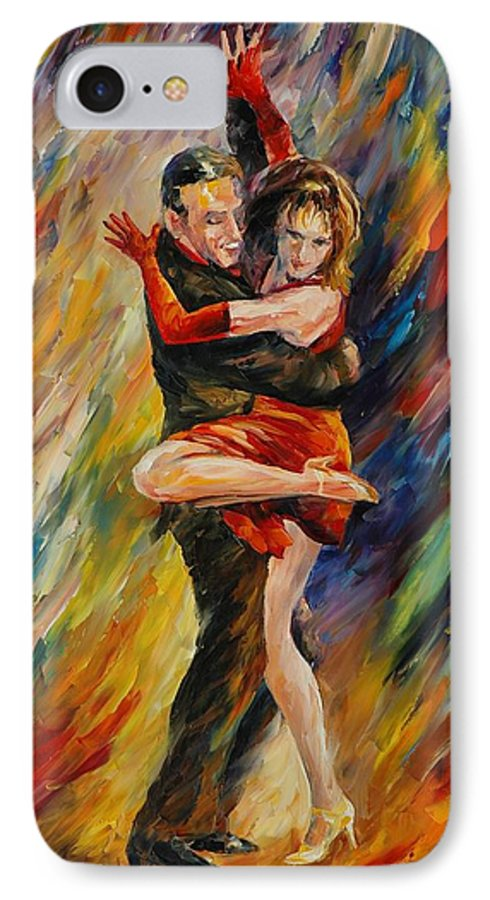 Dance IPhone 7 Case featuring the painting The Sublime Tango by Leonid Afremov
