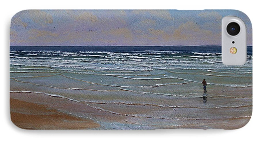 Seascape IPhone 7 Case featuring the painting The Surf Walker by Frank Wilson