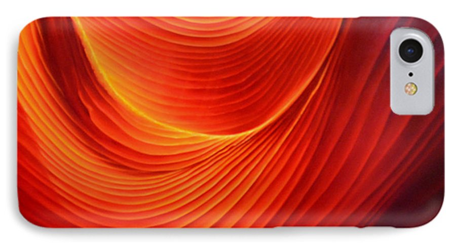 Antelope Canyon IPhone 7 Case featuring the painting The Swirl by Anni Adkins