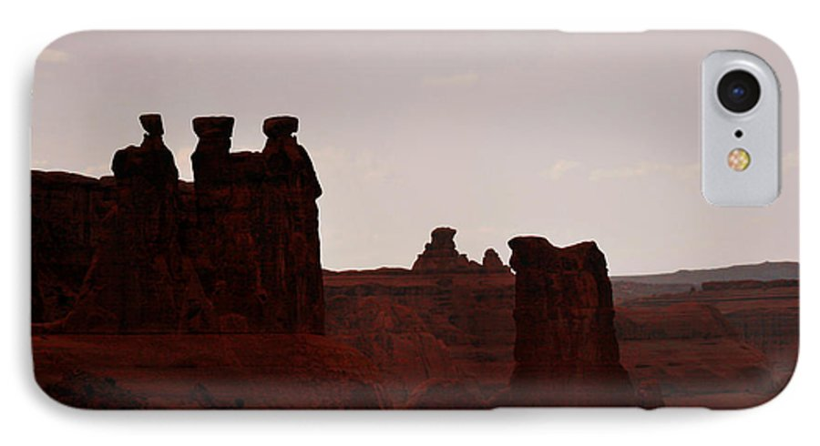 Landscape IPhone 7 Case featuring the photograph The Three Gossips Arches National Park Utah by Christine Till
