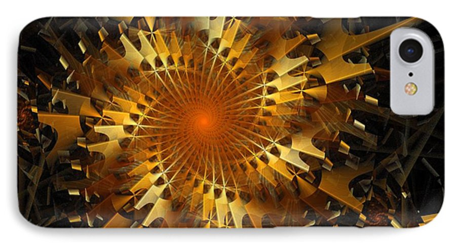 Digital Art IPhone 7 Case featuring the digital art The Wheels Of Time by Amanda Moore