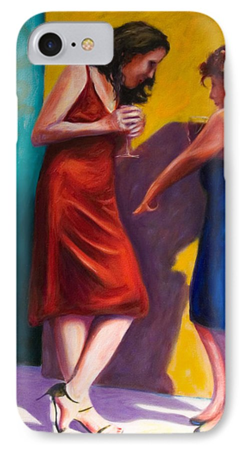 Figurative IPhone 7 Case featuring the painting There by Shannon Grissom