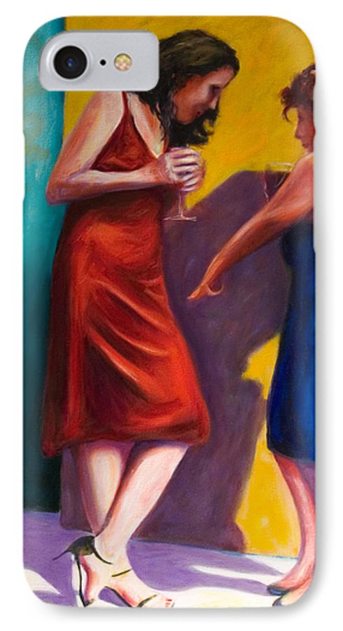 Figurative IPhone Case featuring the painting There by Shannon Grissom