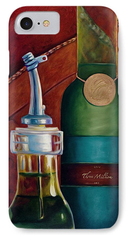 Olive Oil IPhone 7 Case featuring the painting Three Million Net by Shannon Grissom