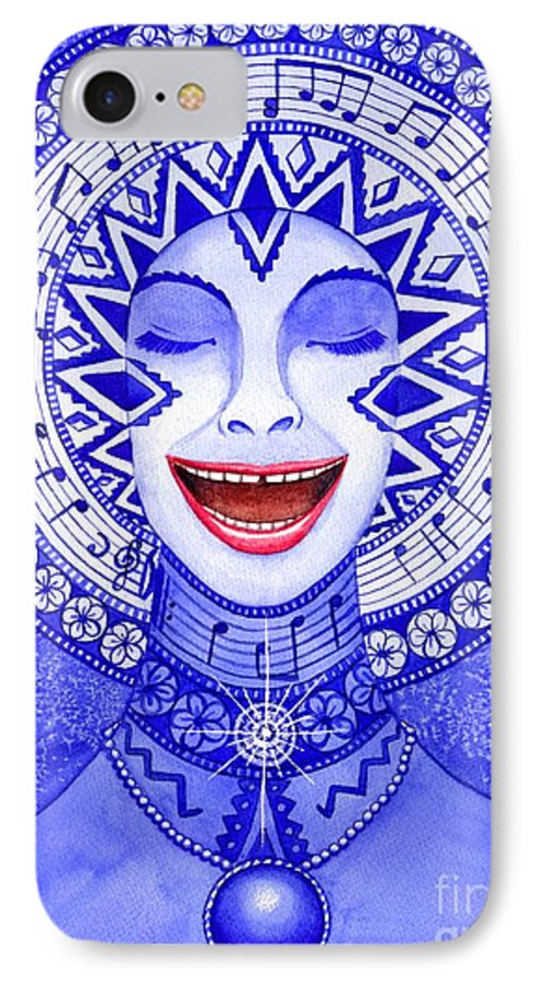 Chakra IPhone 7 Case featuring the painting Throat Chakra by Catherine G McElroy