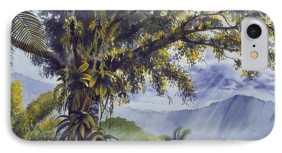 Chris Cox IPhone 7 Case featuring the painting Through The Canopy by Christopher Cox