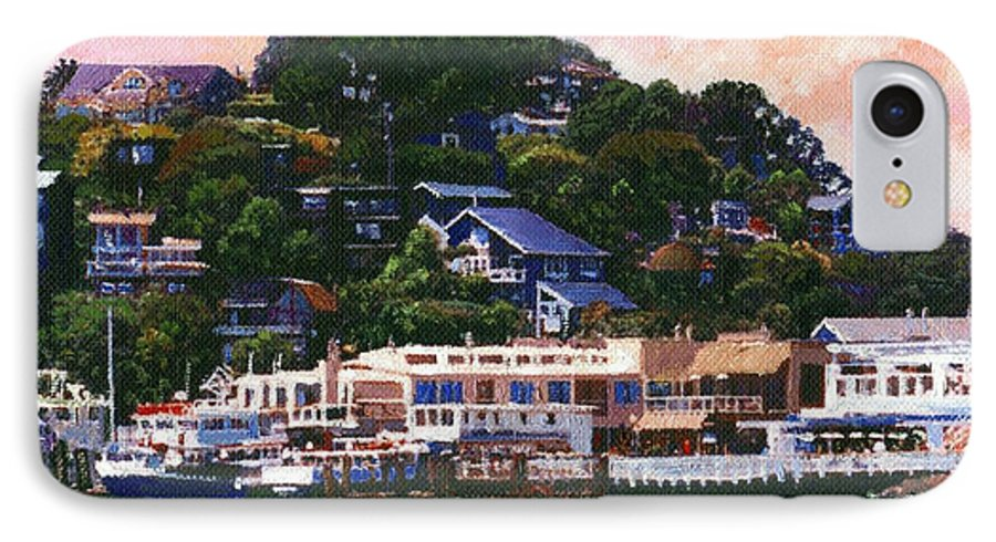 Landscape IPhone 7 Case featuring the painting Tiburon California Waterfront by Frank Wilson