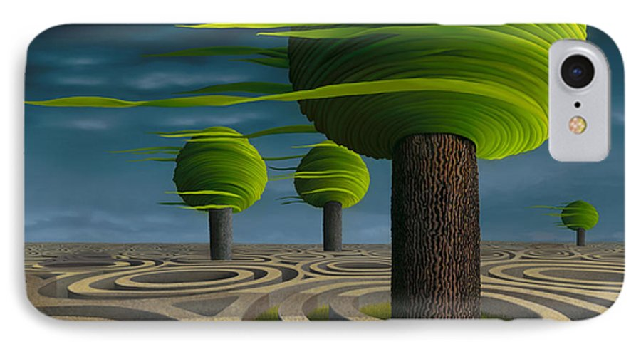 Tree IPhone 7 Case featuring the painting Tilia Arbora by Patricia Van Lubeck