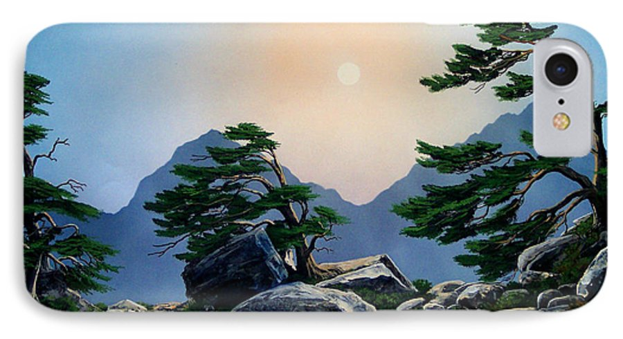 Timberline Guardians IPhone 7 Case featuring the painting Timberline Guardians by Frank Wilson