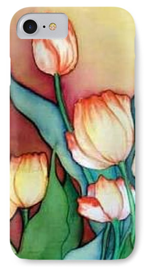 Silks IPhone 7 Case featuring the painting Time For Tulips by Francine Dufour Jones