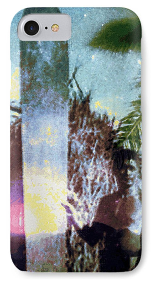 Tropical Interior Design IPhone 7 Case featuring the photograph Time Surfer by Kenneth Grzesik