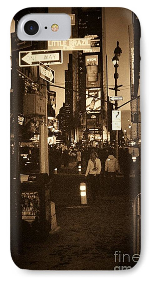 New York IPhone 7 Case featuring the photograph Times Square by Debbi Granruth