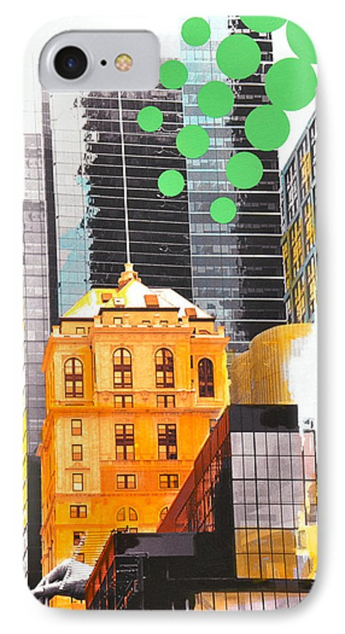 Ny IPhone 7 Case featuring the painting Times Square Ny Advertise by Jean Pierre Rousselet
