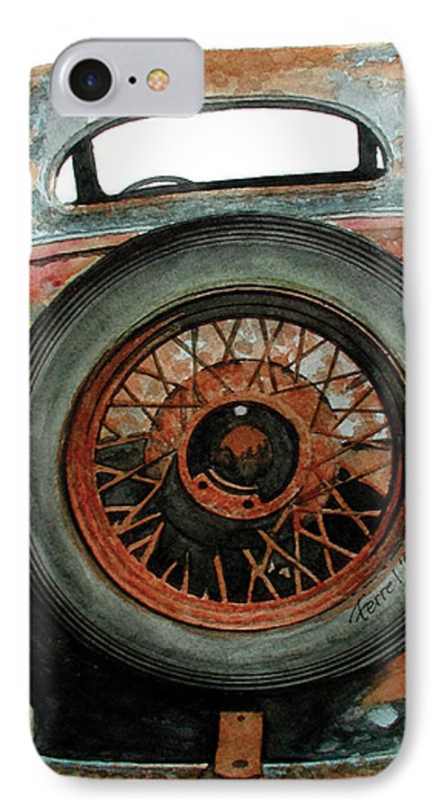 Car IPhone 7 Case featuring the painting Tired by Ferrel Cordle
