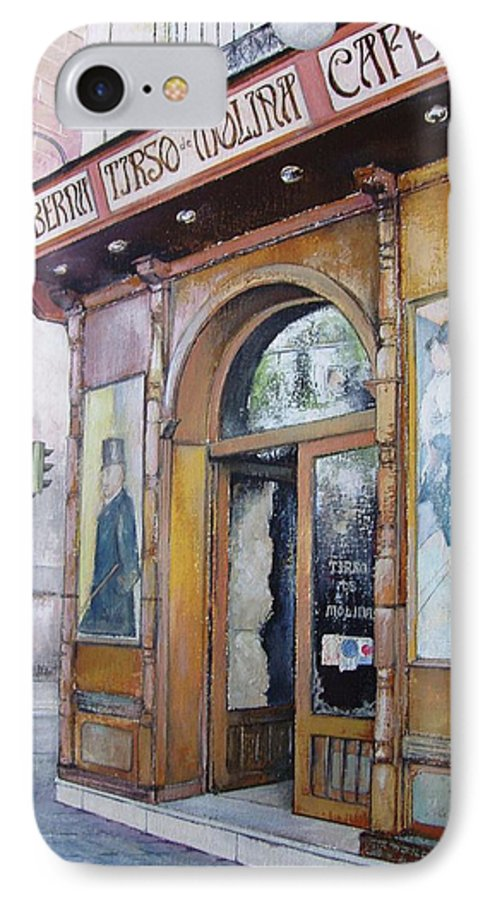 Tirso IPhone 7 Case featuring the painting Tirso De Molina Old Tavern by Tomas Castano