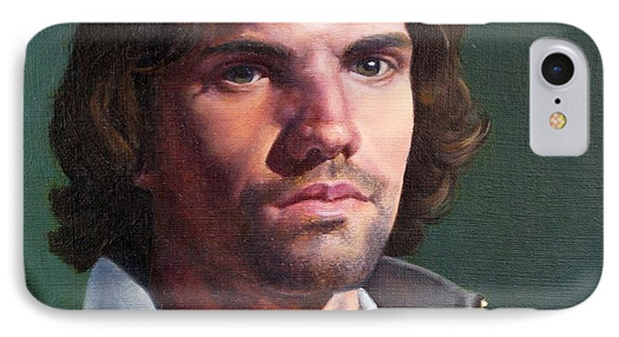 Portrait IPhone 7 Case featuring the painting Toby by Deborah Allison