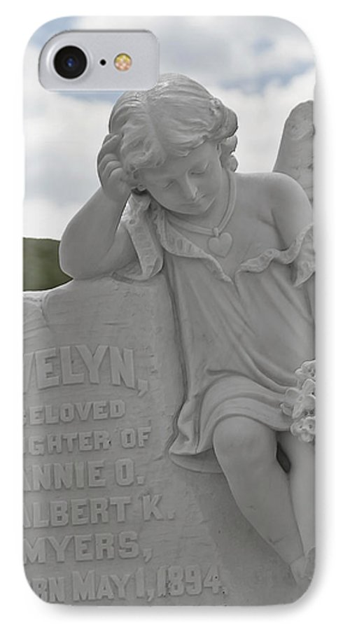 Bodie IPhone 7 Case featuring the photograph Tombstone Angel For An Angel by Christine Till