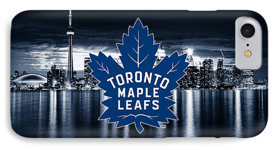 Auston Matthews IPhone 7 Case featuring the digital art Toronto Maple Leafs Nhl Hockey by Nicholas Legault