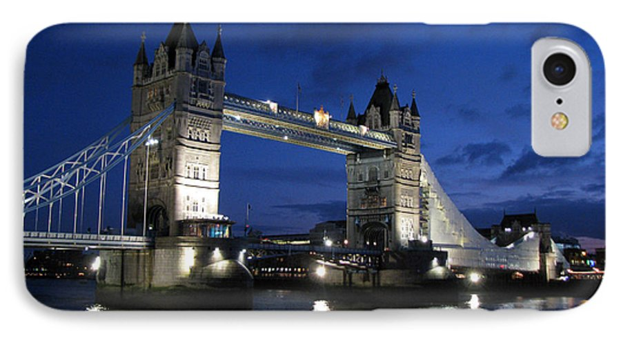 London IPhone 7 Case featuring the photograph Tower Bridge by Amanda Barcon
