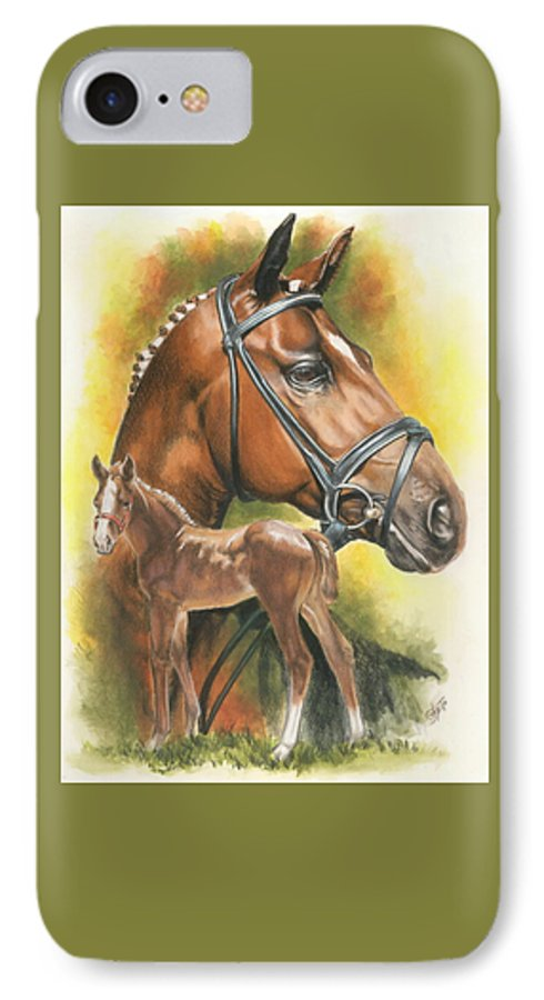 Equus IPhone 7 Case featuring the mixed media Trakehner by Barbara Keith