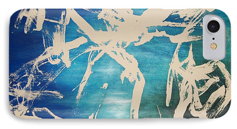 Water IPhone 7 Case featuring the painting Tranquilidad by Lauren Luna