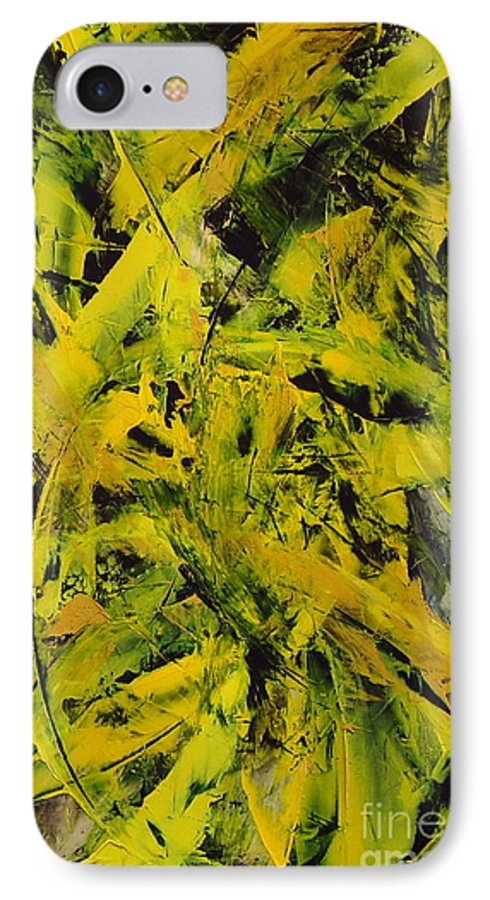 Abstract IPhone 7 Case featuring the painting Transitions Vi by Dean Triolo