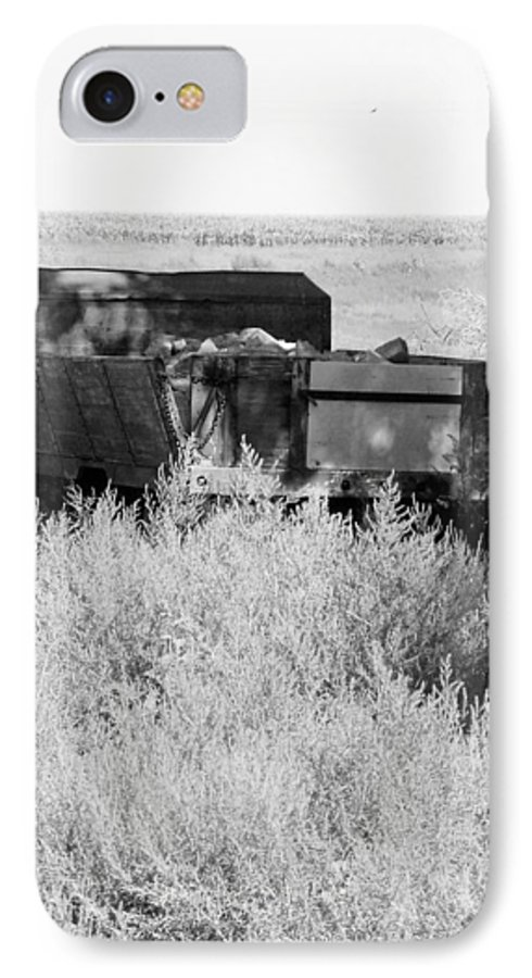 Farm IPhone 7 Case featuring the photograph Trash Truck by Margaret Fortunato