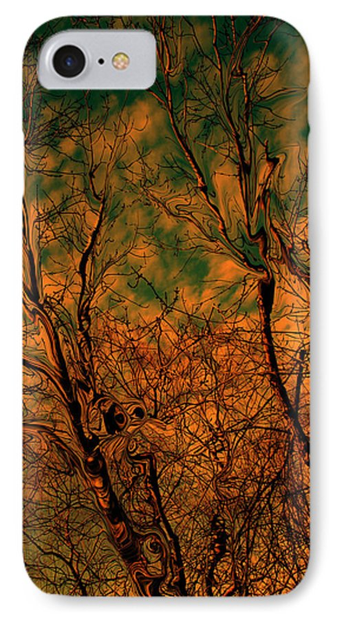 Trees IPhone 7 Case featuring the photograph Tree Abstract by Linda Sannuti